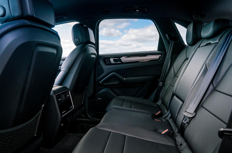 Porsche Cayenne 2018 UK first drive review rear seats