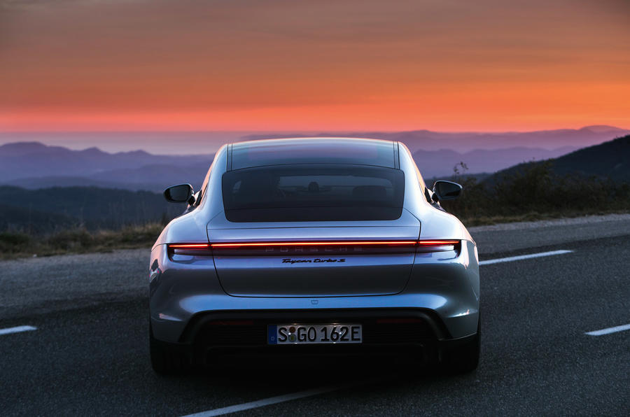Porsche Taycan Turbo S - stationary rear