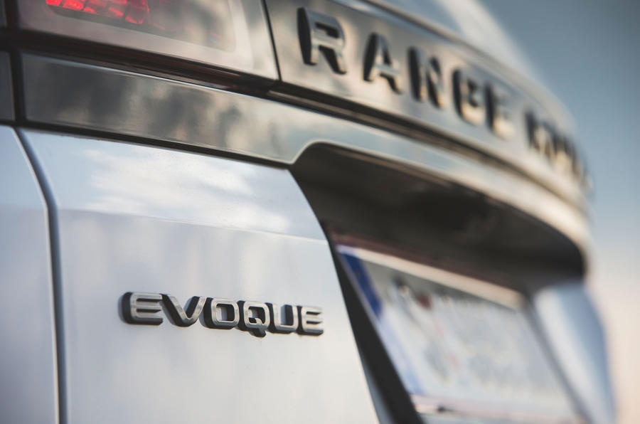 Range Rover Evoque 2019 first drive review - rear badge
