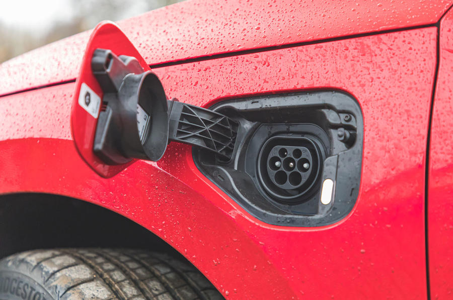 Skoda Octavia vRS iV 2020 UK First drive - charging port