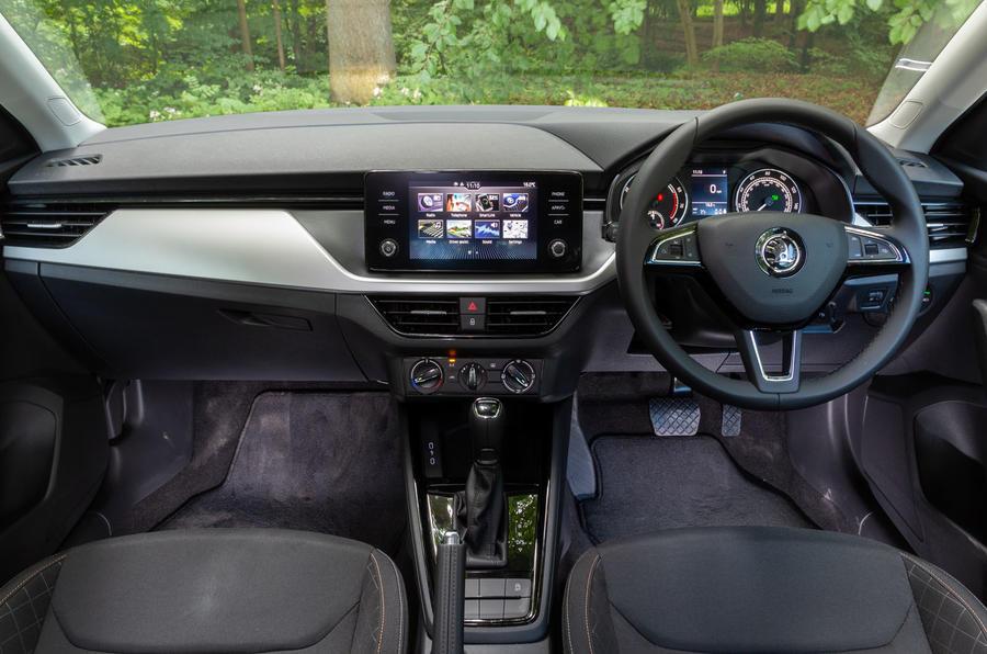 Skoda Scala 1.5 TSI SE 2019 UK first drive review - dashboard