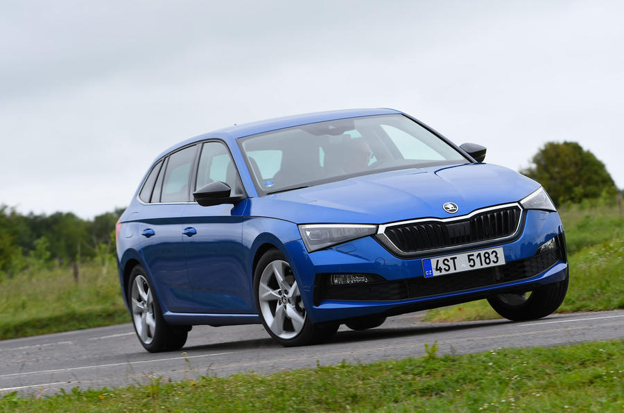 Skoda Scala 1.6 TDI 2019 UK first drive review - cornering front
