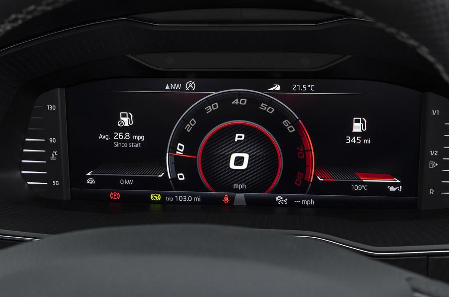 Skoda Superb Estate Sportline 2020 UK first drive review - instruments