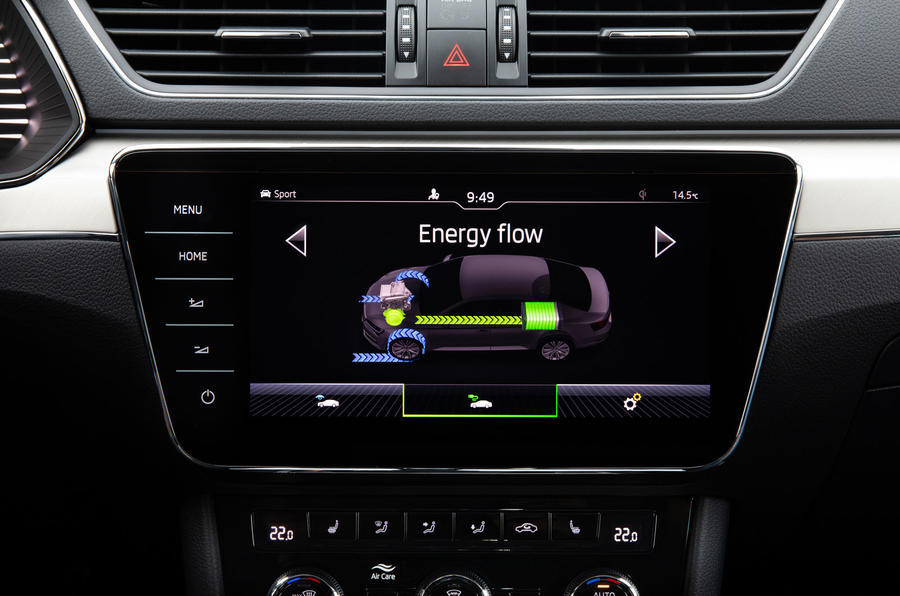 Skoda Superb iV 2020 first drive review - energy flow meter
