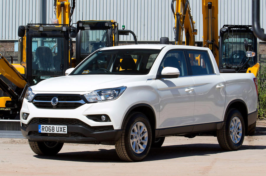 Ssangyong Musso EX 2019 UK first drive review - static front