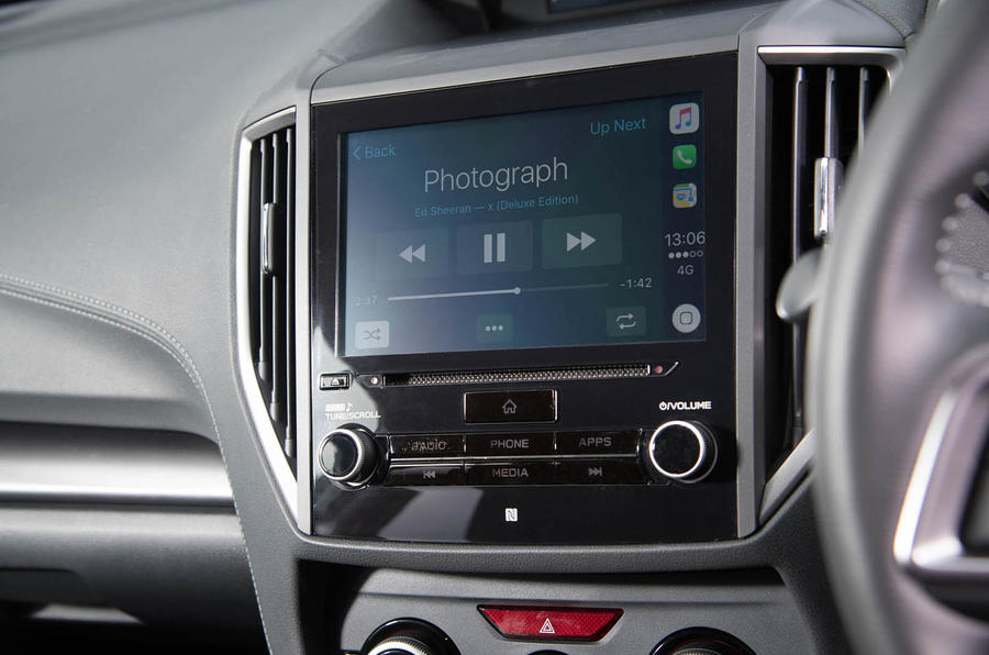 Subaru Impreza 2018 UK review infotainment