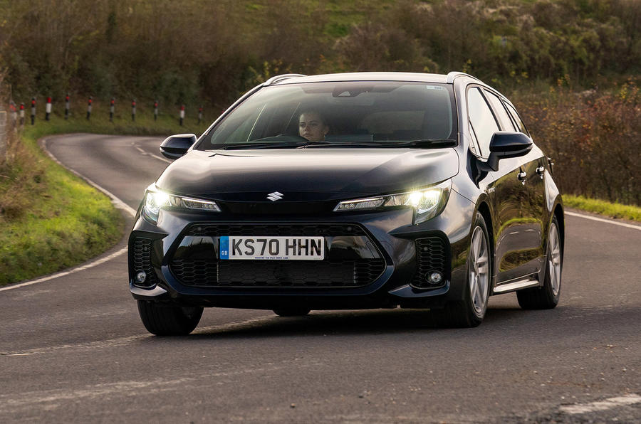 Suzuki Swace 2021 UK First Drive review - cornering front