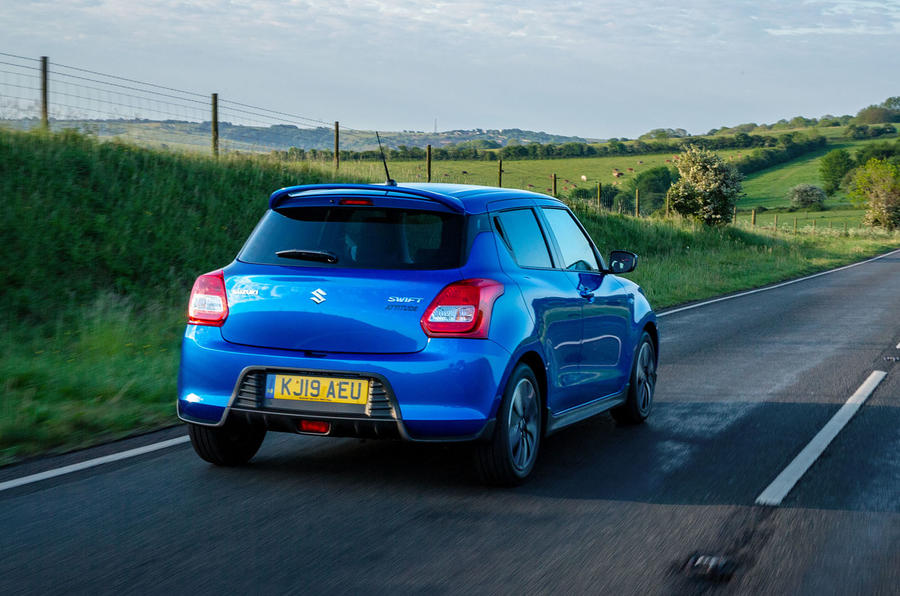 Suzuki Swift Attitude 2019 UK first drive review - on the road rear
