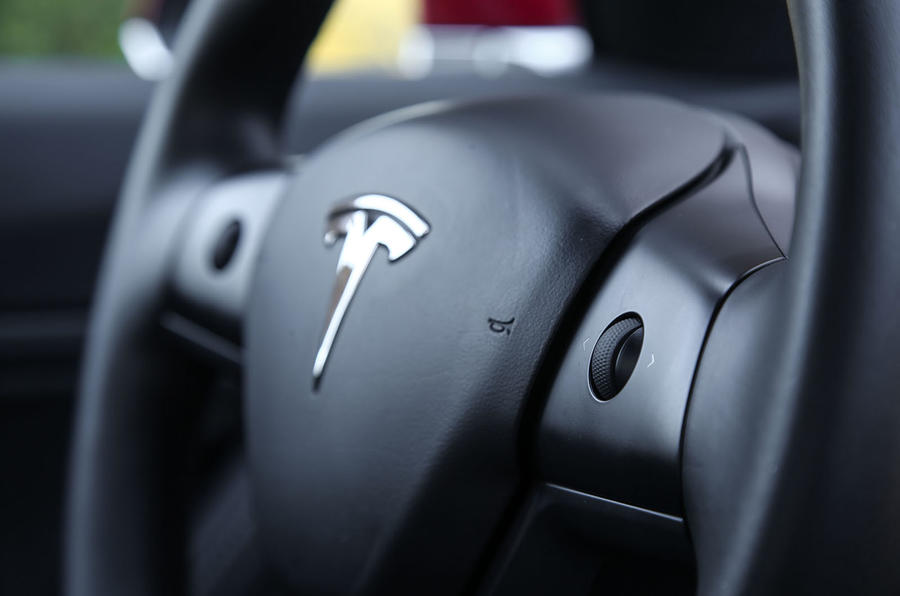 Tesla Model 3 2018 review steering wheel buttons