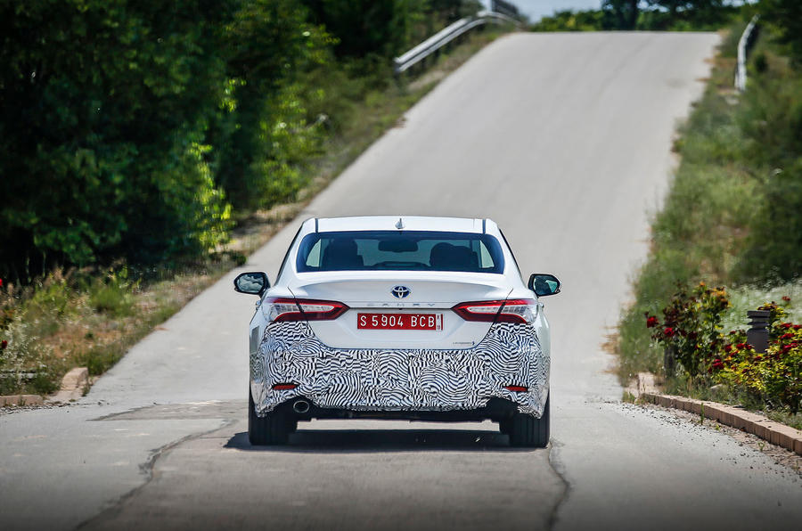 Toyota Camry 2019 first drive review on the road rear