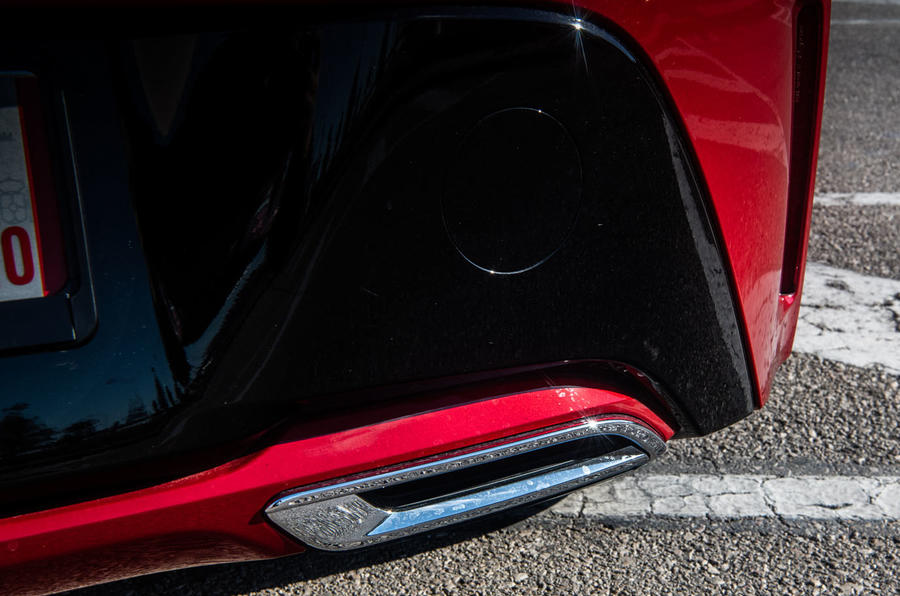 Toyota Corolla hybrid hatchback 2019 first drive review - rear bumper