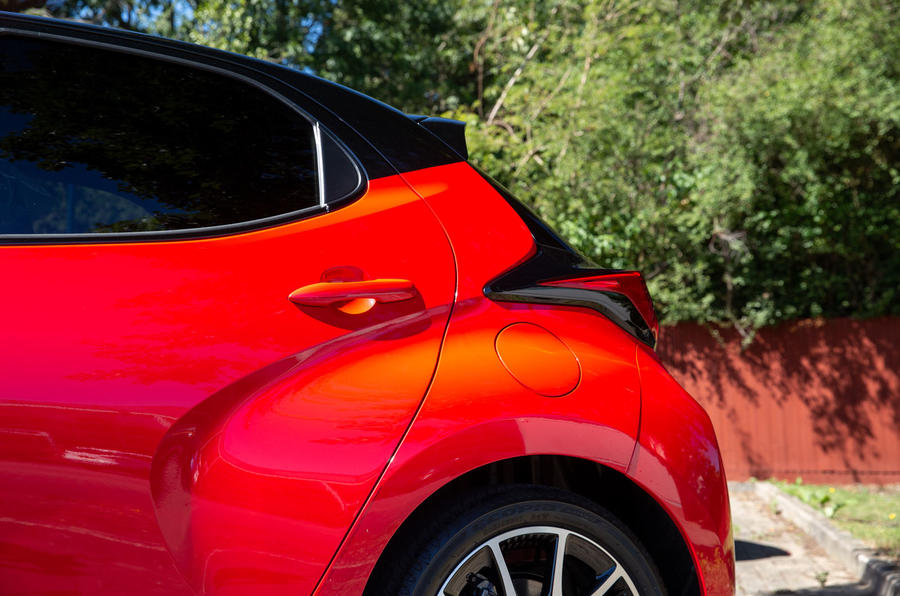 Toyota Yaris hybrid 2020 UK first drive review - rear arches