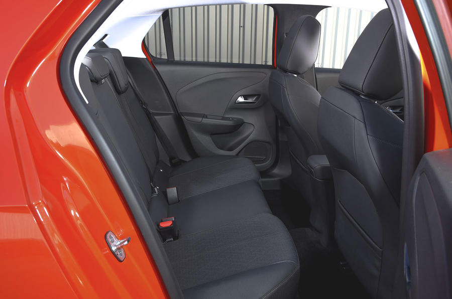 Vauxhall Corsa 2019 UK first drive review - rear seats