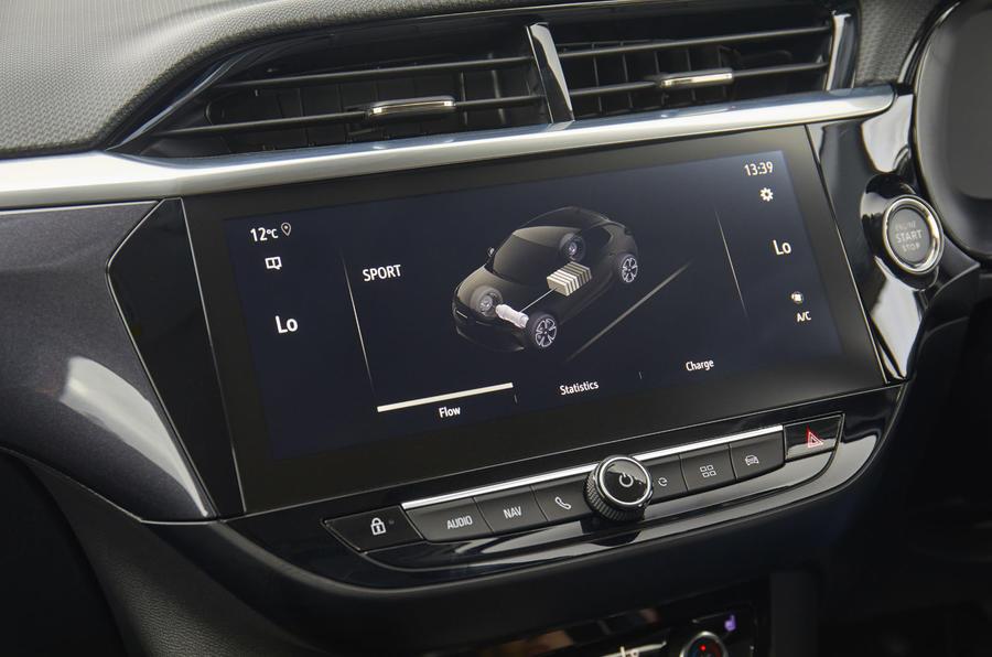 Vauxhall Corsa-e 2020 UK first drive review - infotainment