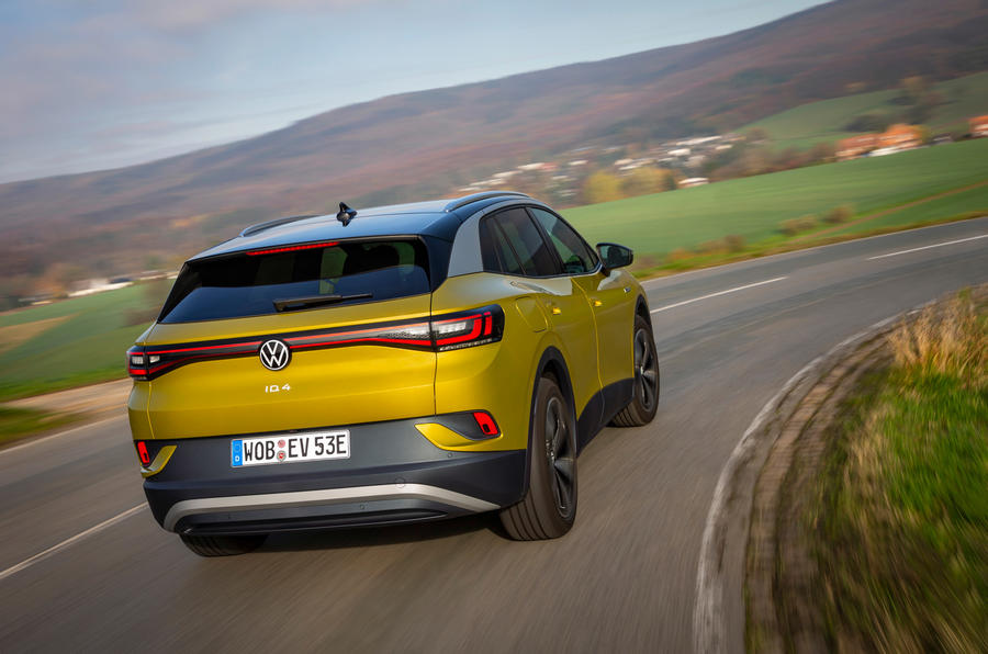 Volkswagen ID 4 2021 first drive review - cornering rear