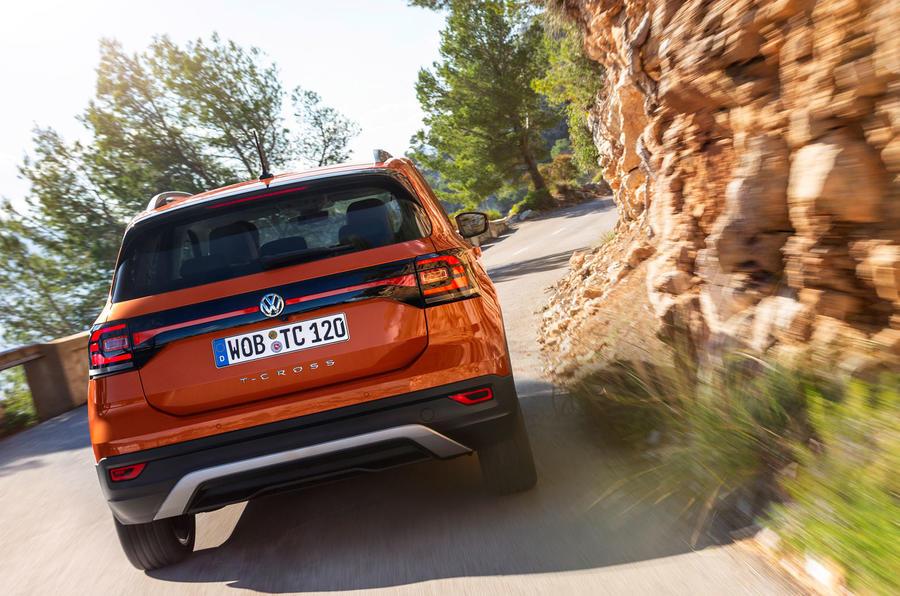 Volkswagen T-Cross 2019 first drive review - cornering rear