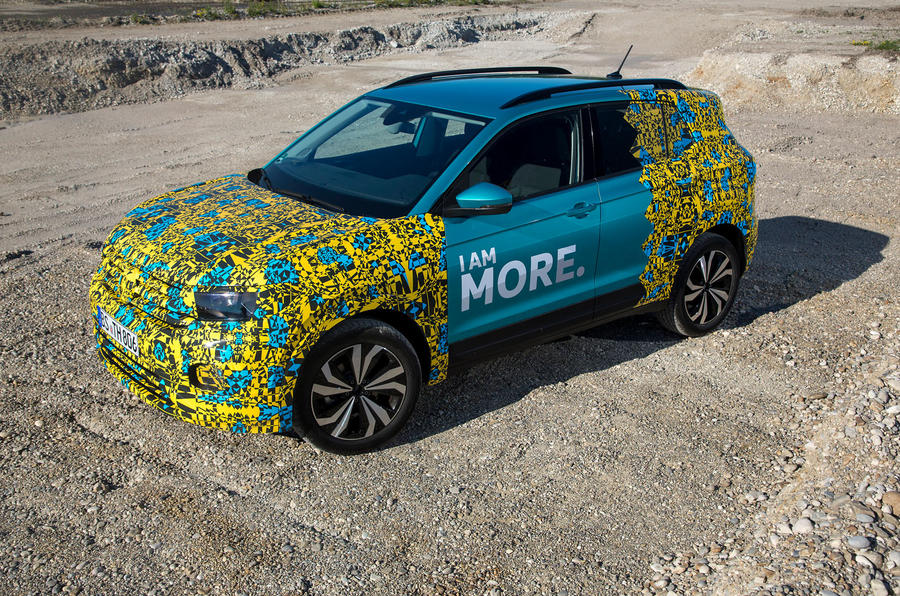 Volkswagen T-Cross prototype 2019 first drive review static top