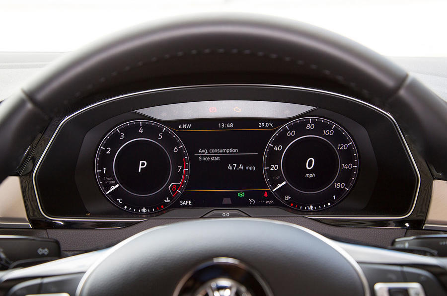 Volkswagen Arteon 2018 long-term review instrument cluster