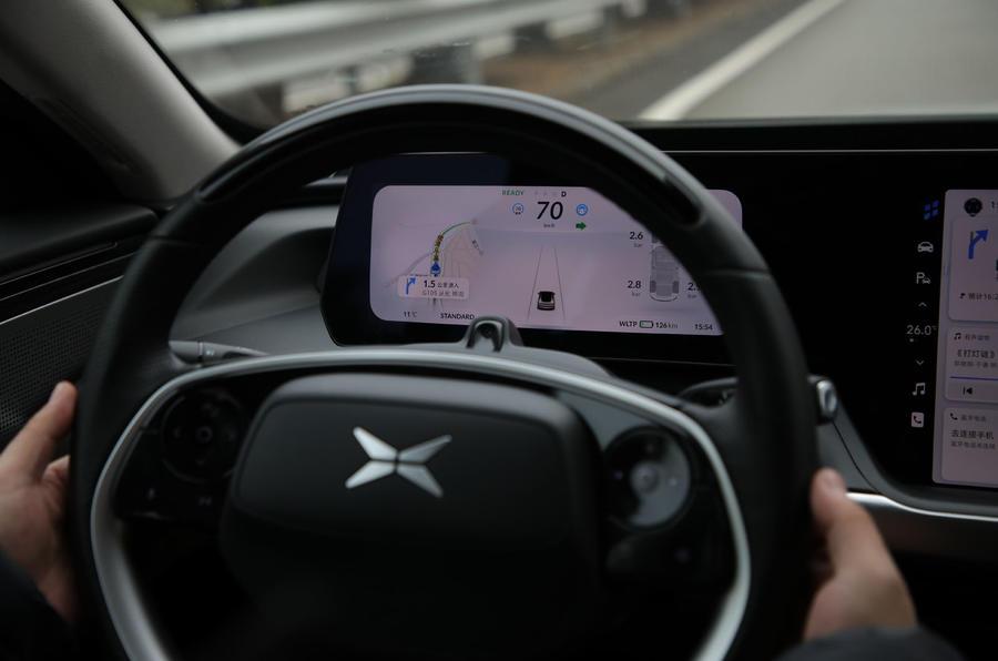 9 Xpeng P7 super long range Premium 2021 : révision de la conduite autonome
