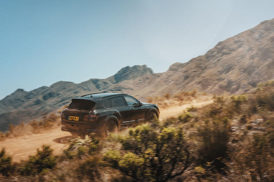 2020 Bentley Bentayga refresh prototype drive - offroad side