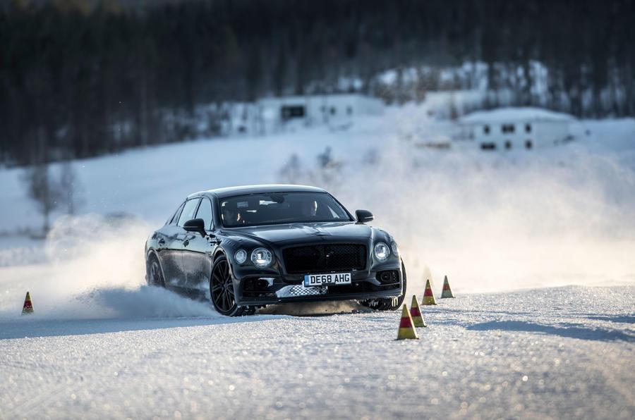 Bentley Flying Spur 2020 development ride - cones front