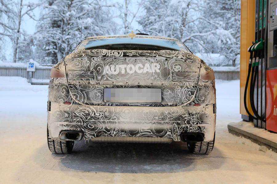 BMW 2 Series camouflage winter testing 2019 - rear