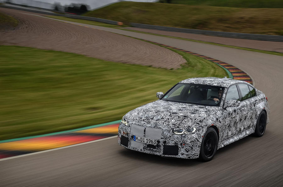 2020 BMW M3 prototype first drive - cornering front