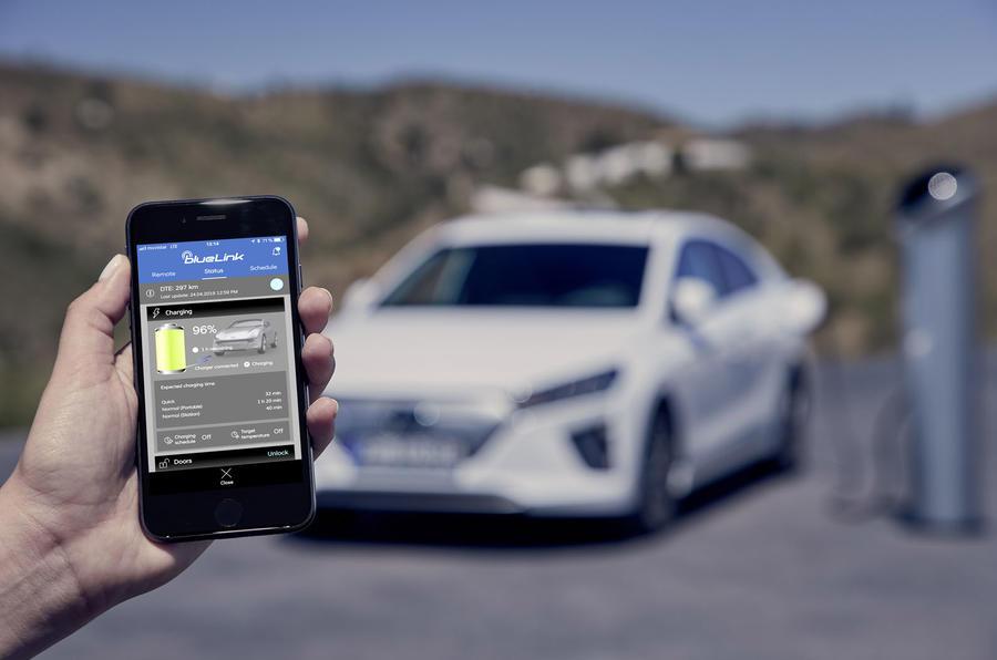 Hyundai Ioniq 2019 facelift official press - app