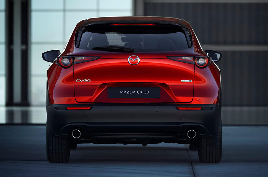 Mazda CX-30 2019 Geneva motor show reveal - rear end