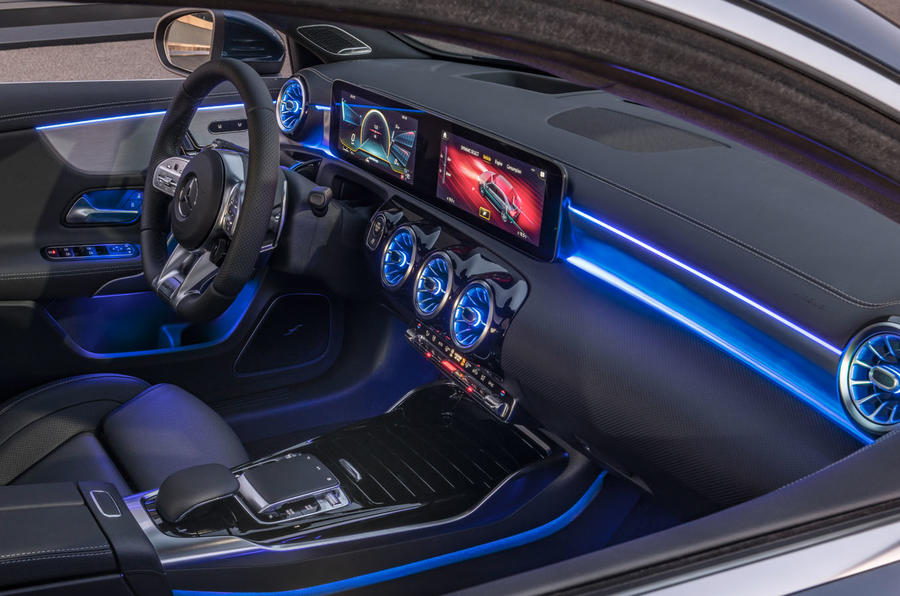 Mercedes-AMG A35 Saloon 2019 official reveal - ambient lighting