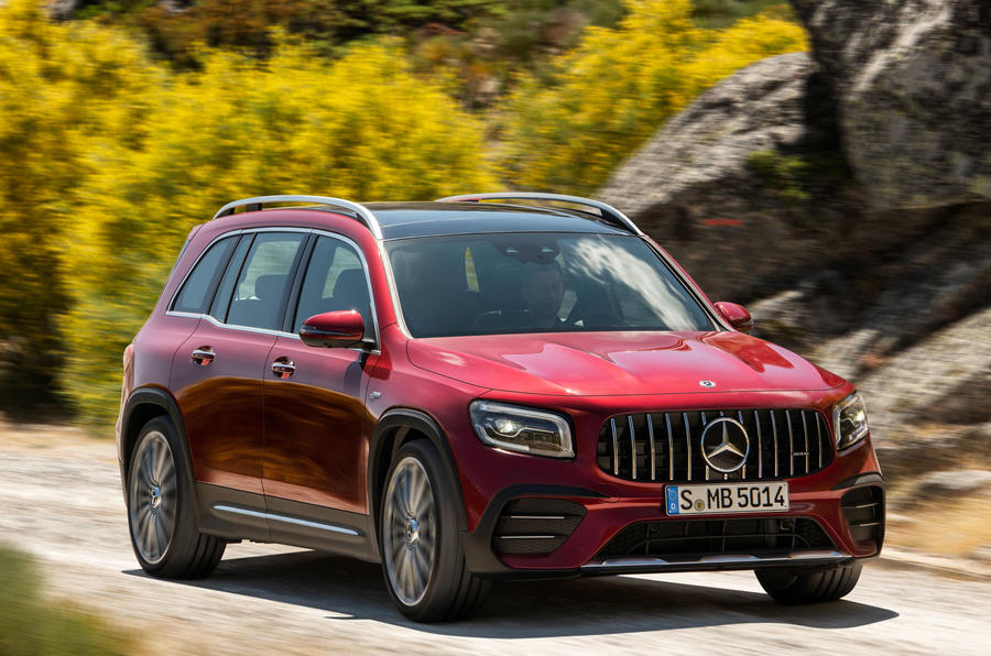 Mercedes-AMG GLB 35 2019 official press images - offroad front