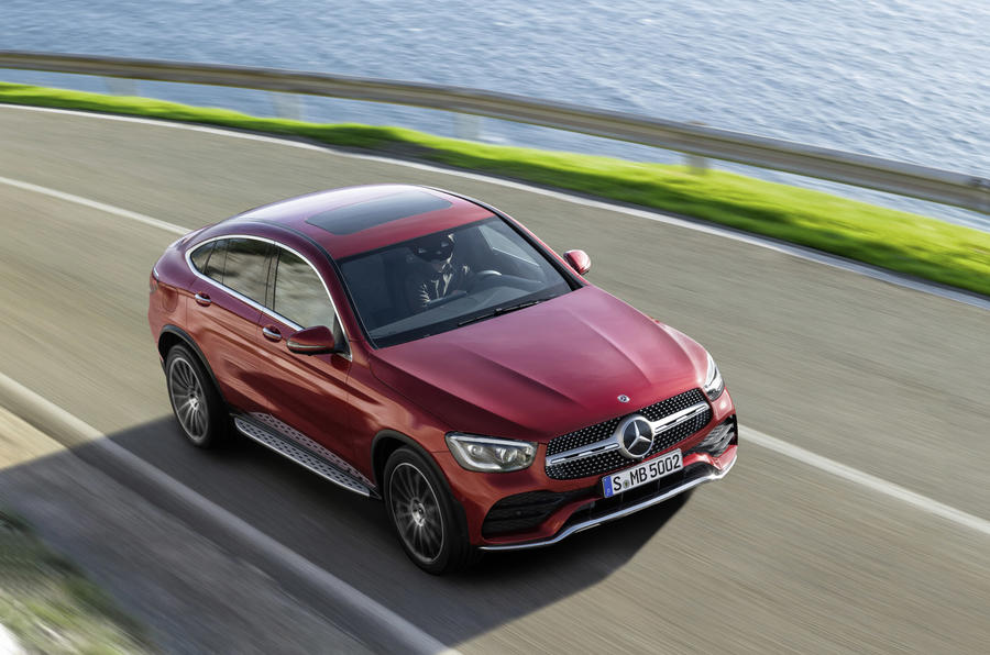 Mercedes GLC Coupe 2019 press - on the road front