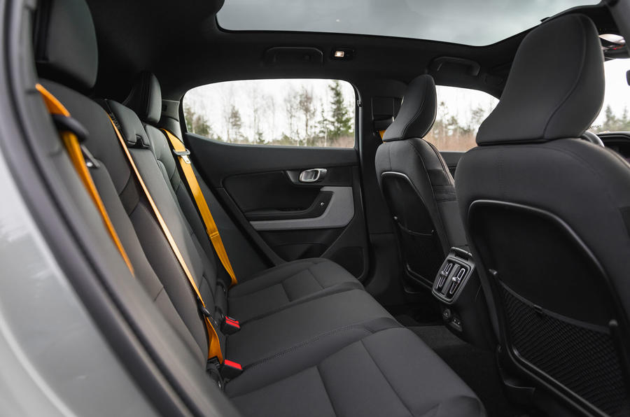 2020 Polestar 2 prototype drive - rear seats