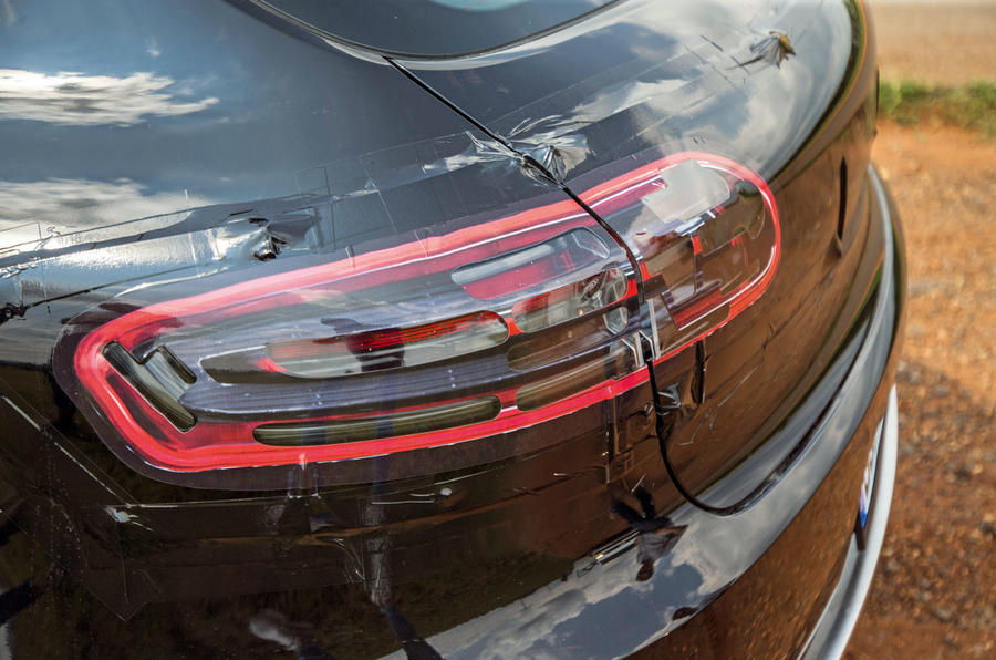 Porsche Macan prototype 2018 rear lights
