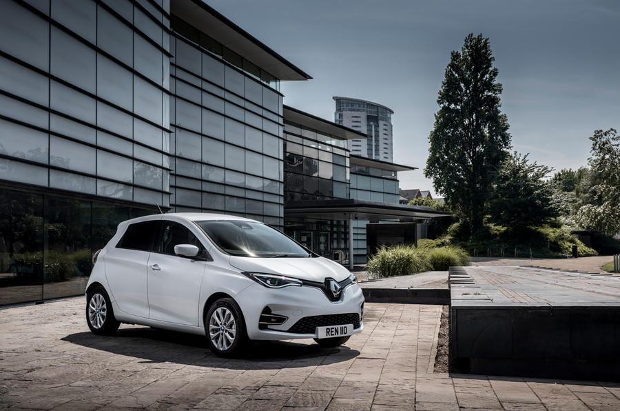 Renault Zoe van 2020 official images - static front