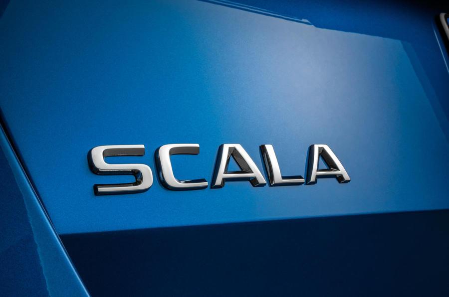 Skoda Scala 2019 official reveal - studio Scala badge