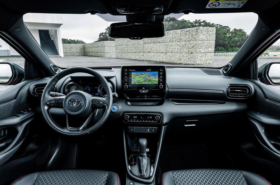 2020 Toyota Yaris prototype drive - dashboard