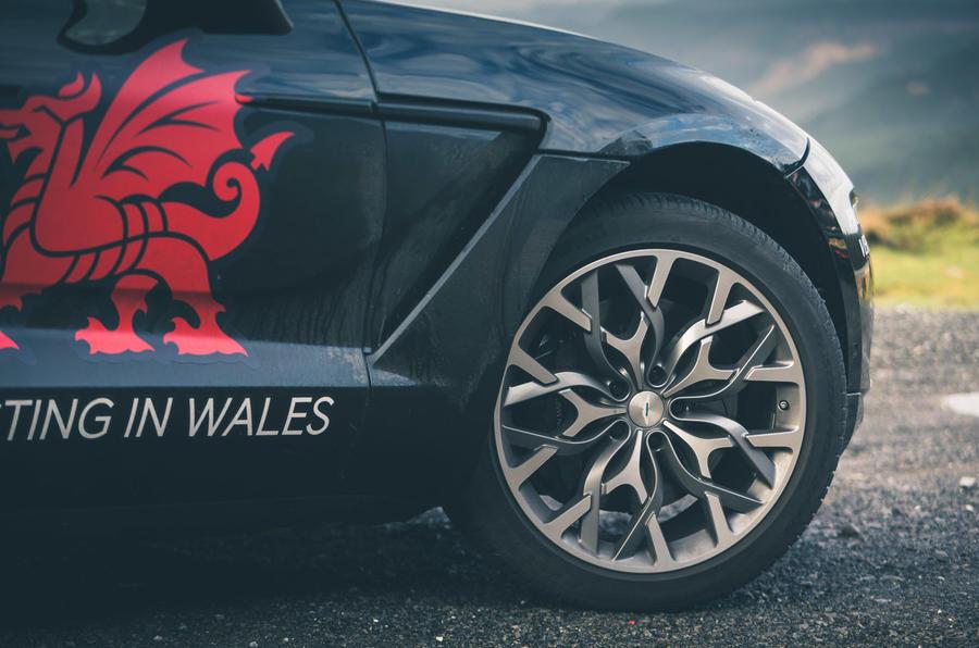 Aston Martin DBX 2020 prototype drive - alloy wheels