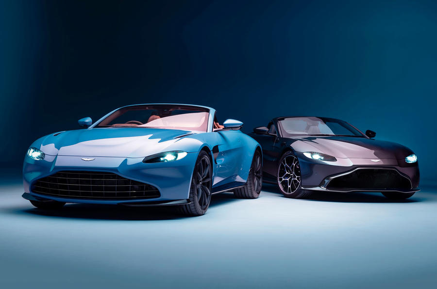 Aston Martin Vantage Roadster 2020 - official press images - with coupe