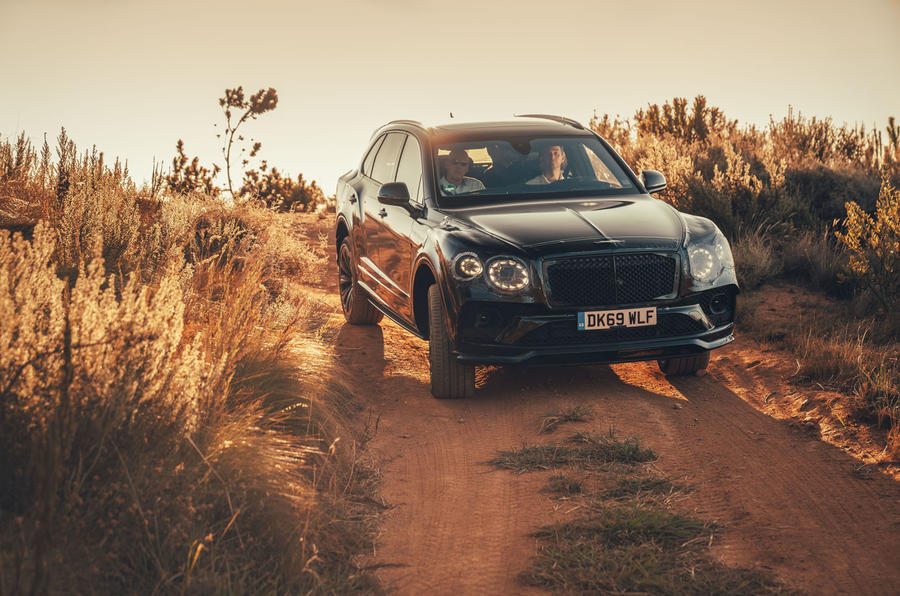 2020 Bentley Bentayga refresh prototype drive - offroad front