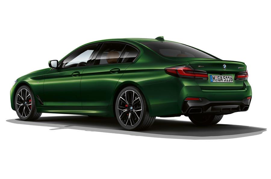 BMW M550i 2020 facelift official images - static rear