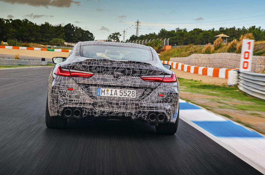 2019 BMW M8 prototype ride - track exhausts