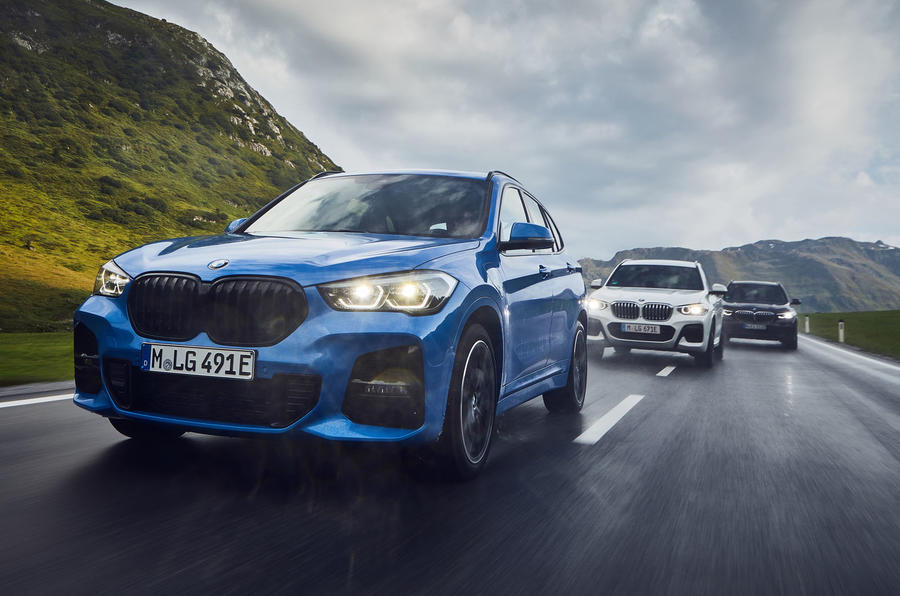 BMW X1 PHEV official press photos - on the road