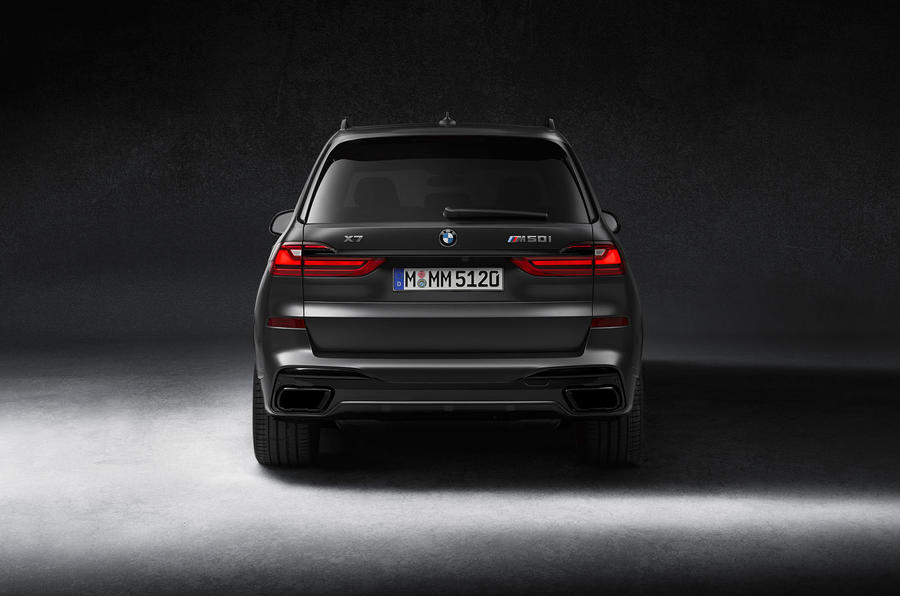 BMW X7 Dark Shadow Edition 2020 official images - rear end
