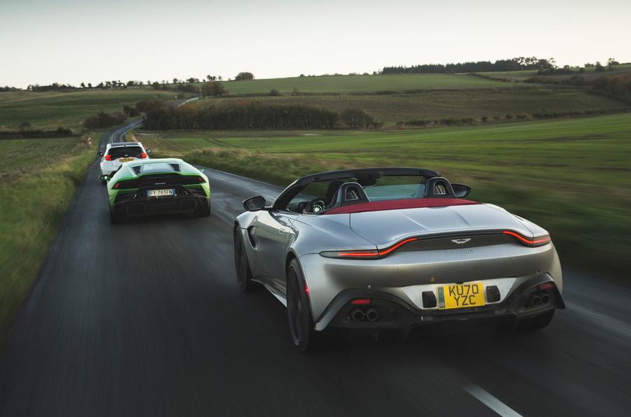 Britain's best drivers car 2020 - Aston procession