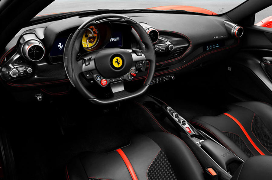 Ferrari F8 Tributo 2019 first ride review - dashboard