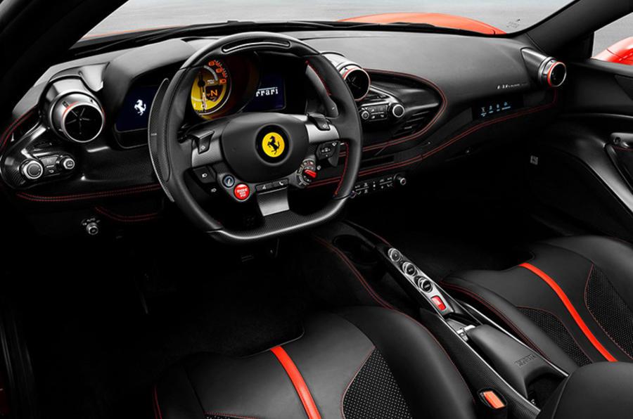Ferrari F8 Tributo 2019 first ride review - dashboard
