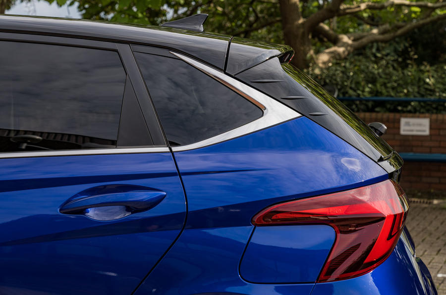 Hyundai i20 2020 prototype drive - rear end