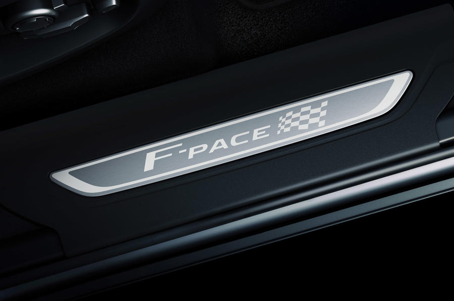 Jaguar F-Pace Chequered Flag edition - scuff plates