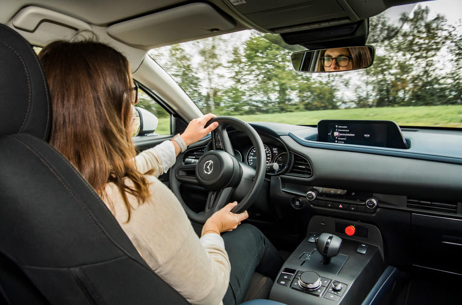 Mazda e-TPV prototype 2019 first drive review - Rachel Burgess cornering